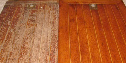how to clean teak wood on a boat